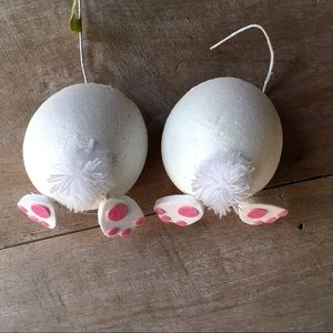 Holiday - Easter 2 pc. Styrofoam Bunny Butts NWT